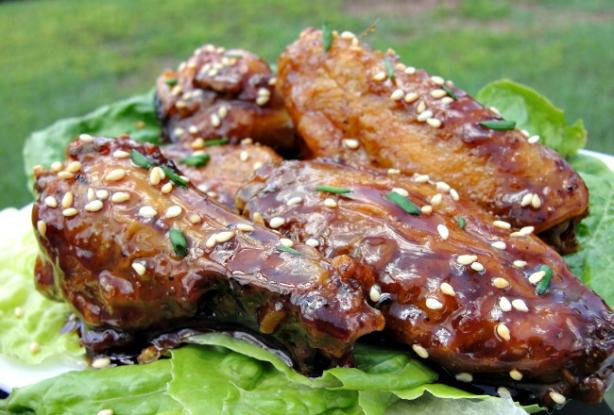 Sweet Spicy Sticky Wings