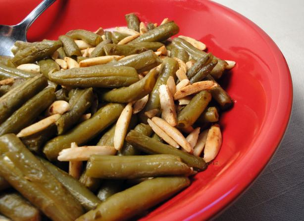 Fried Green Beans With Slivered Almonds