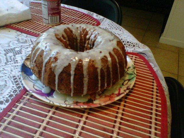 Brandy Apple Coffee Cake