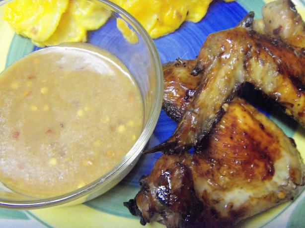 Thai Chicken Wings With Peanut Dipping Sauce
