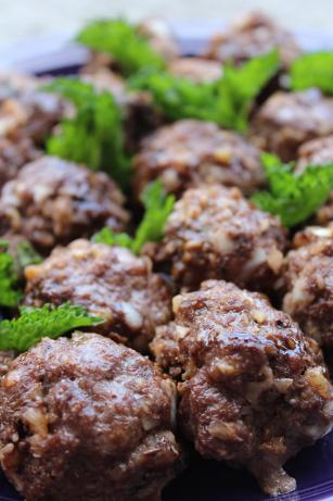 Fesenjan-Inspired Pomegranate Meatballs