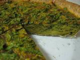Curried Spinch Quiche / Frittata
