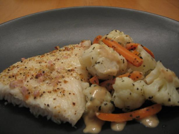 Lemon-Pepper Cod With Vegetable Medley