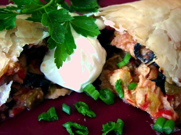 Mexican Chicken in Phyllo