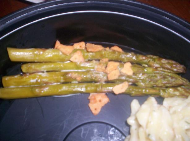 Easy Creamy Baked Asparagus (Gluten Free)