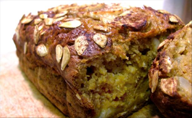 Fall Harvest Apple-Spiked Pumpkin Bread