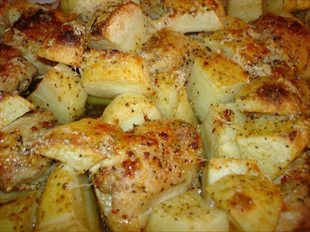 Parmesan Chicken and Potato Bake