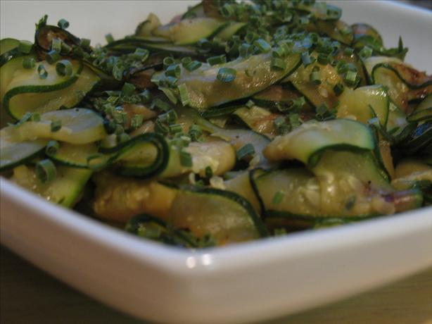 Sauteed Courgettes With Chives