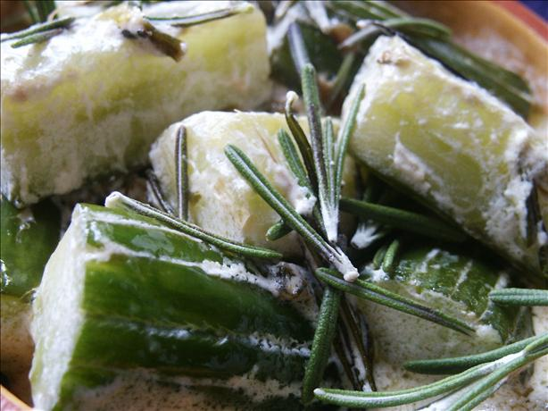 Sauteed Cucumber With Herbs