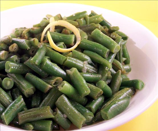Ridiculously Easy Lemony Green Beans