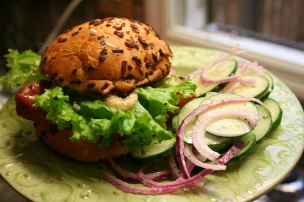 Grilled Kielbasa Sandwich