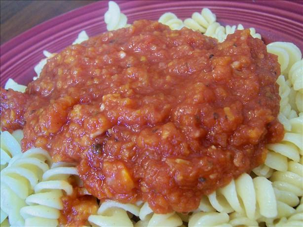 Crock Pot Marinara Sauce (Vegetarian and Fat-Free)