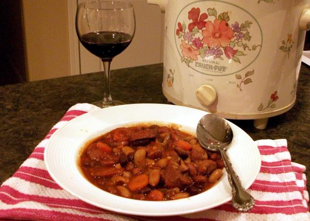 Crock Pot Kielbasa Cassoulet