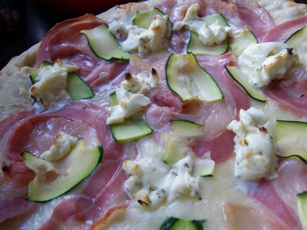 Zucchini Pancetta Pizza