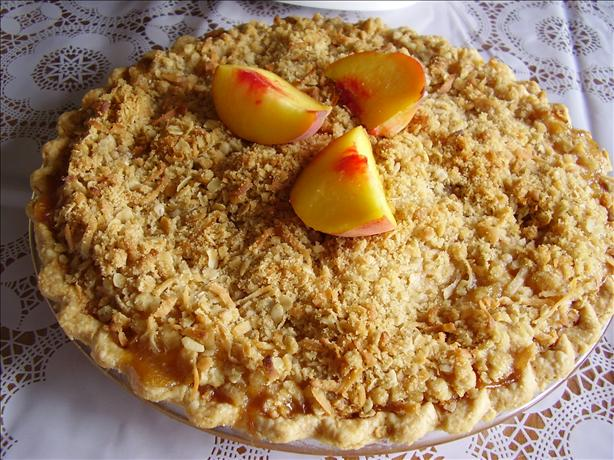 Peach Pie With Coconut Streusel