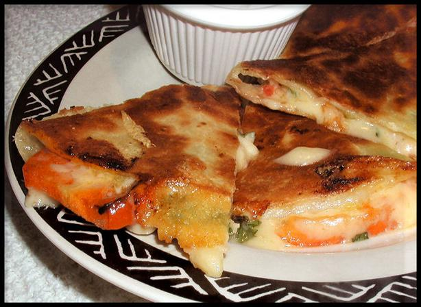 "The "" Shut Up, Sandi "" Quesadilla / Quesadillas"