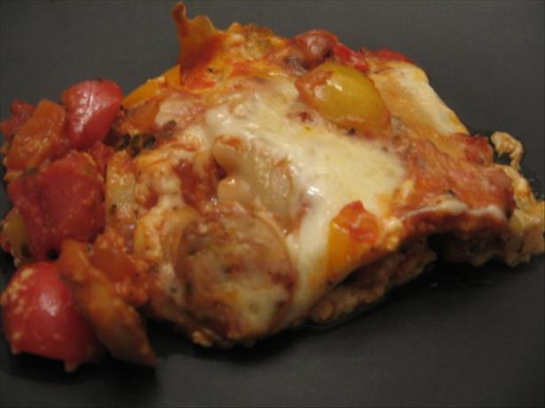 Mushroom and Sweet Pepper Lasagna