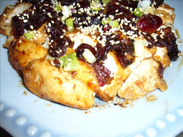 Caramelized Cranberry Chicken