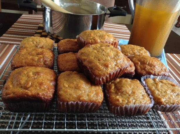 Oatmeal Carrot Muffins
