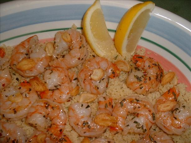Mediterranean Shrimp With Garlic Chips