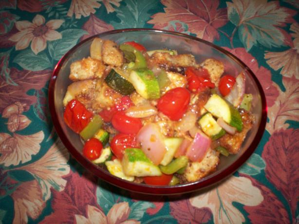 Easy Eggplant & Pasta Skillet Recipe