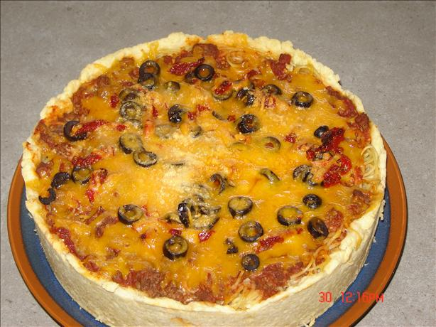 Mile High Spaghetti Pie