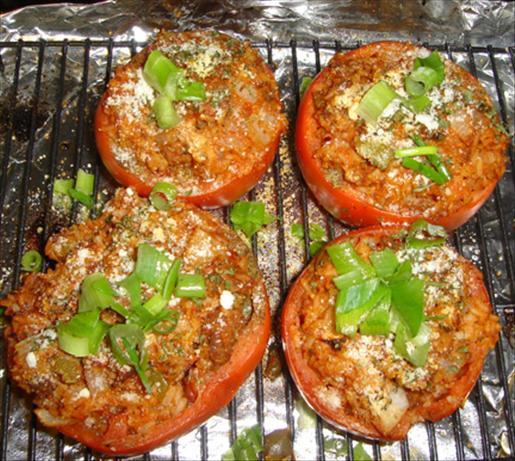 Easy Roasted Stuffed Tomatoes