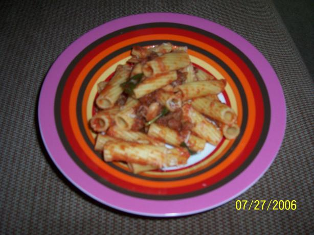 Ziti With Sausage and Cannellini