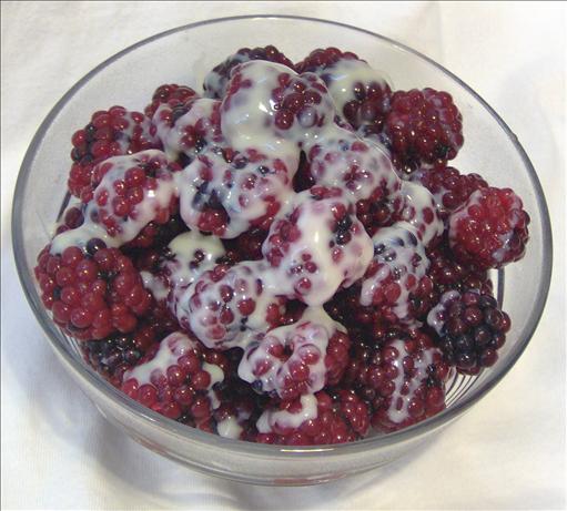Raspberries and Sweetened Condensed Milk