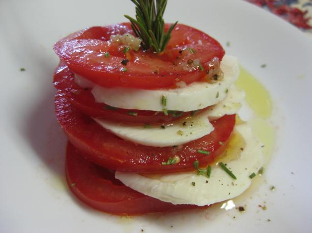 Mozzarella & Tomato Stacks With Rosemary