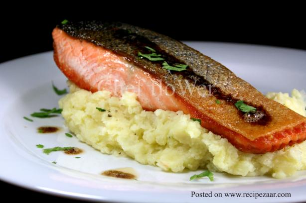 Salmon on Mash Mountain