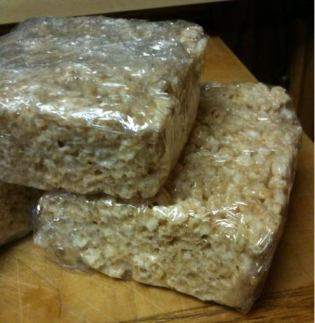 """ Man"" Rice Krispies Treats"