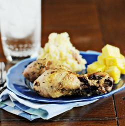 Crock Pot Super Garlic Chicken Legs