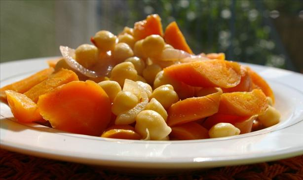 Tunisian Glazed Chickpea-And-Carrot Salad