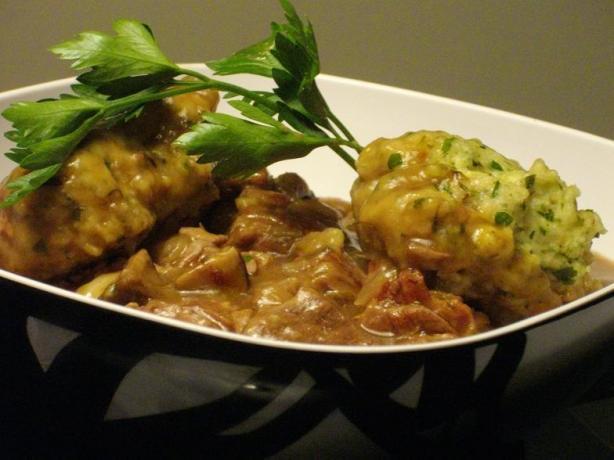 Beef Hot Pot With Herb Dumplings