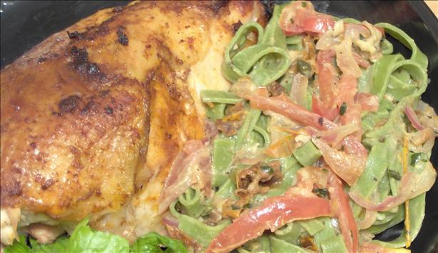 Broiled Chicken With Fettuccine Earl's