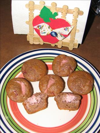 Mini Strawberry Surprise Muffins