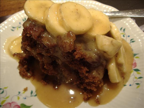Gingerbread With Warm Cinnamon Bananas and Rum