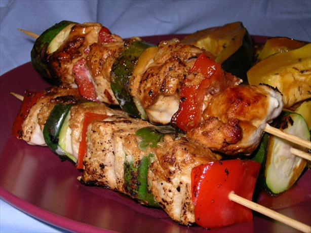 Sour Cream-Dijon Marinated Chicken Kabobs