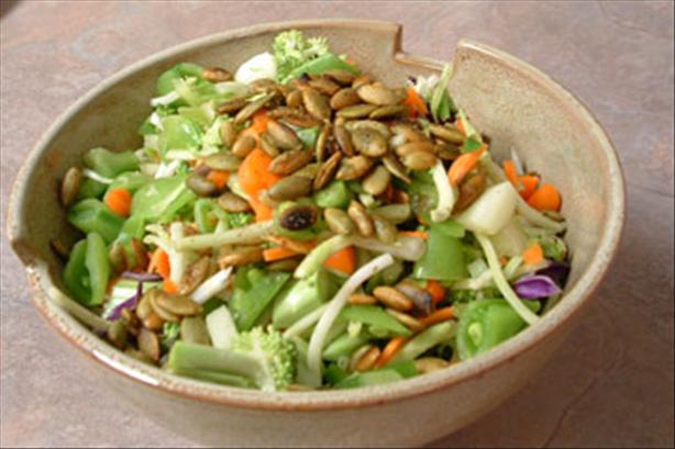 Tidbit Raw Vegetable Salad With Toasted Seeds