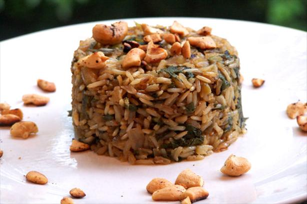 Green Pilau With Cashews