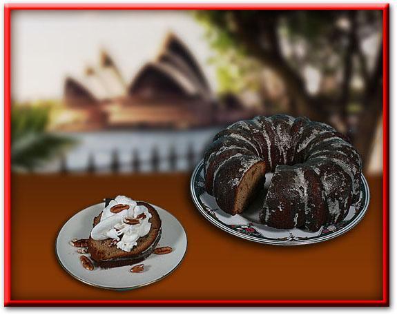 Pecan Caramel Bourbon Cake
