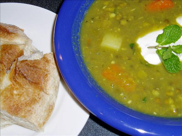 Punjabi Pea and Mint Soup