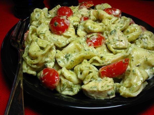 Pesto Chicken Tortollini Salad