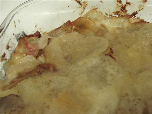 Scalloped Potatoes With Canadian Bacon