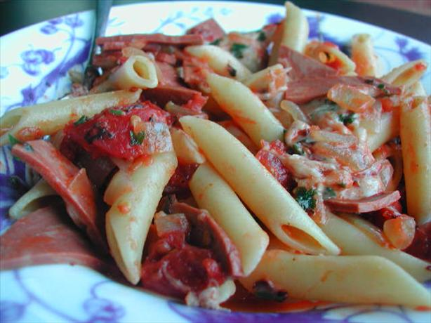 Canadian Bacon and Mozzarella Penne