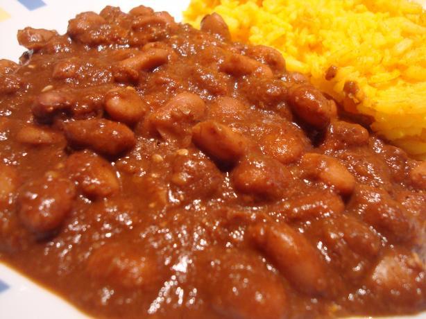 Mole Pinto Beans