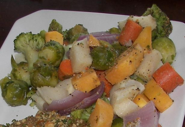 Steamed Veggies With Butter Sauce