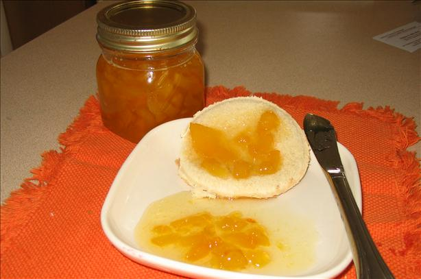 Microwave Peach Jam With Orange Liqueur