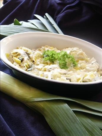 Leeks With Creamy Wine Sauce